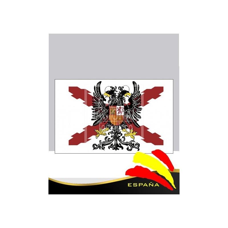 Bandera Bicéfala Fondo Blanco 1.50 x 1.00 mtrs.