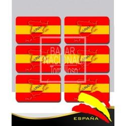 Adhesivo Bandera España UNA