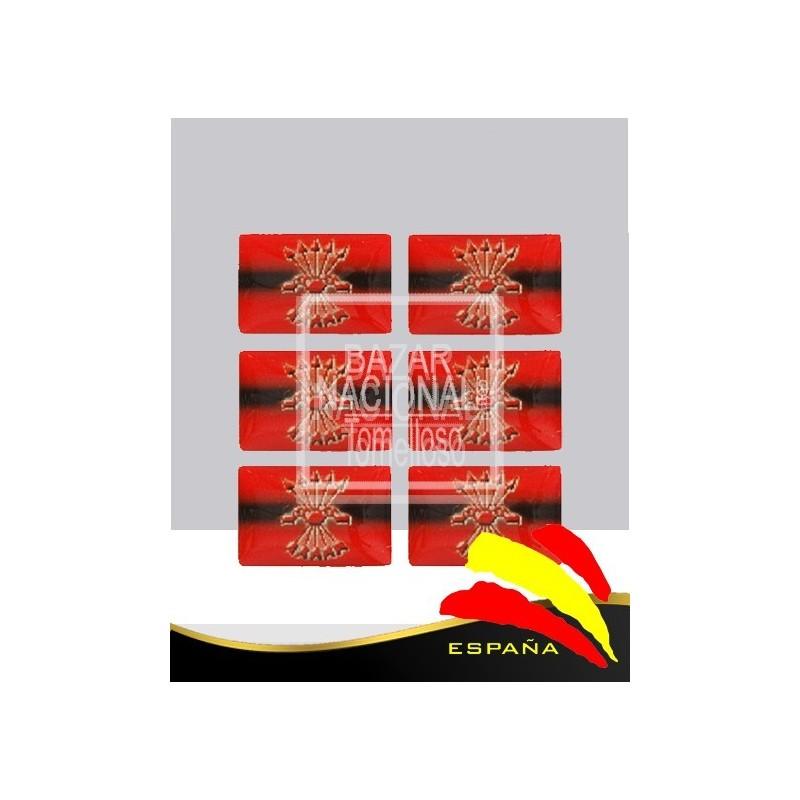 Adhesivo Resina Bandera Falange Española