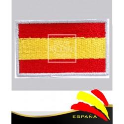 Parche Bordado Blanco Bandera España