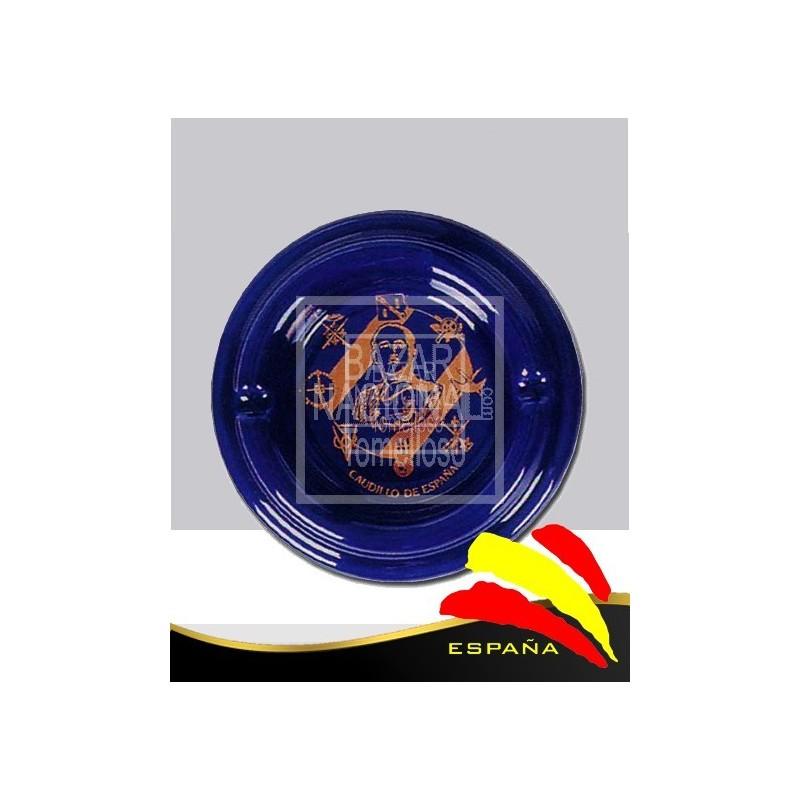 Cenicero Azul Cobalto Borde Redondeado Águila