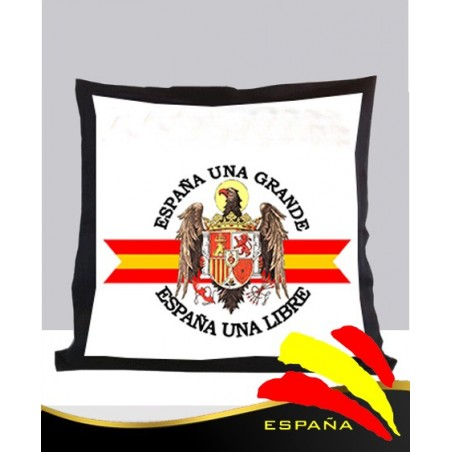 Cojín Negro Águila de San Juan Fondo Bandera
