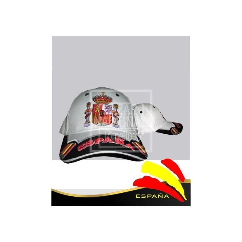 Gorra Blanca Escudo España Bordado