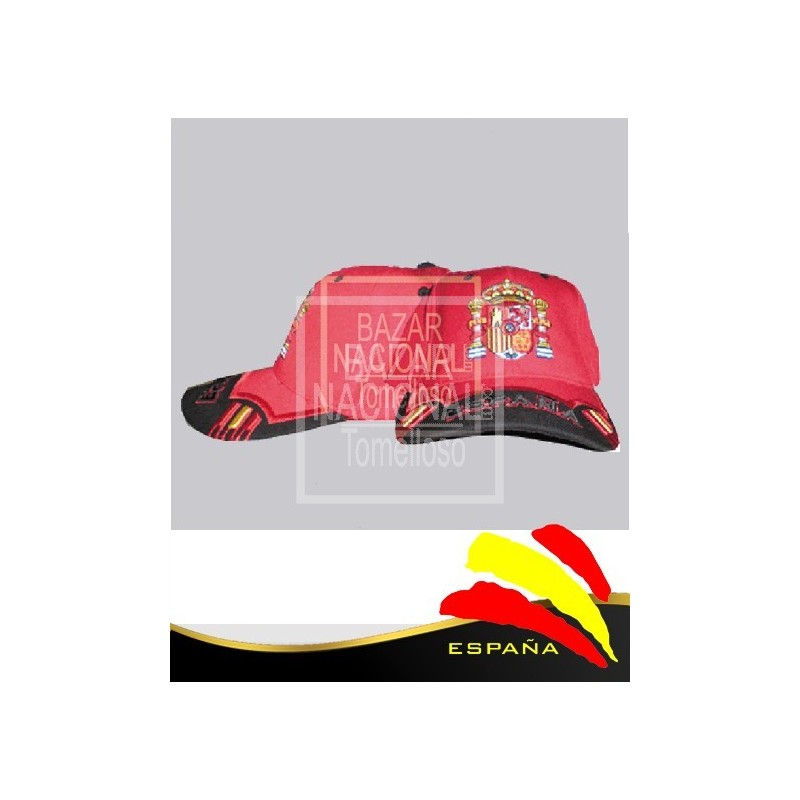 Gorra Roja Escudo de España