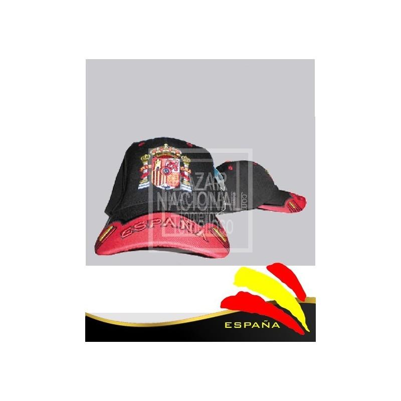 Gorra Negra Escudo España