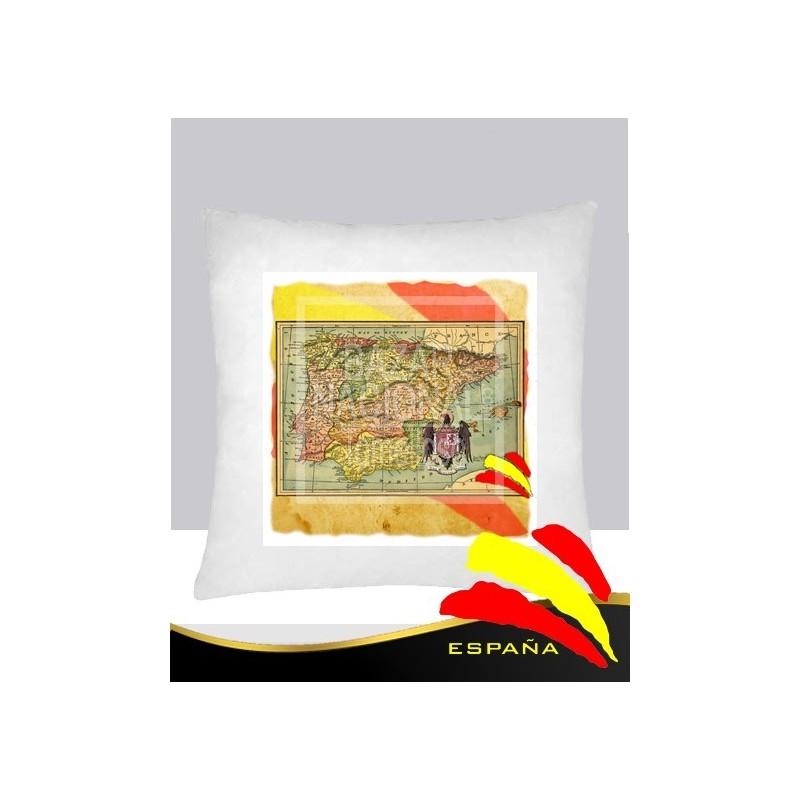 Cojín Blanco Mapa España