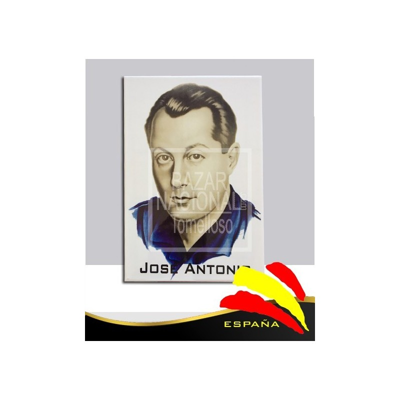 Cerámica J. Antonio B/N Camisa Azul 20x30