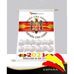 Calendario Pared Tela Águila San Juan