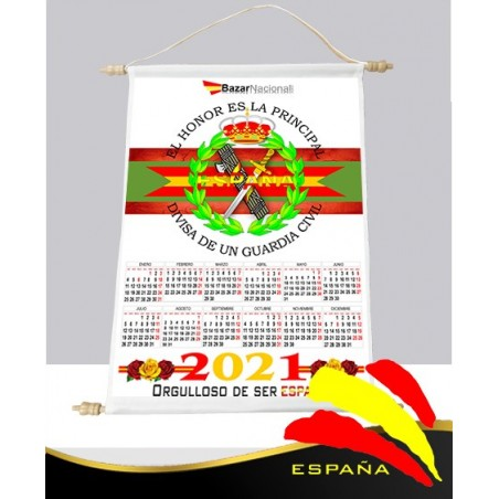 Calendario Pared Tela Guardia Civil