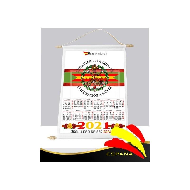 Calendario Pared Tela Legión Española