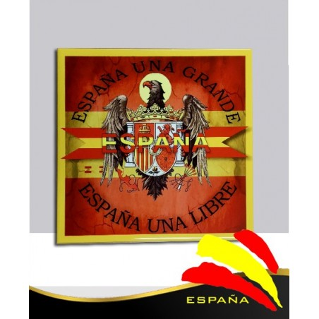 Cerámica Águila-Bandera 20x20 cm.