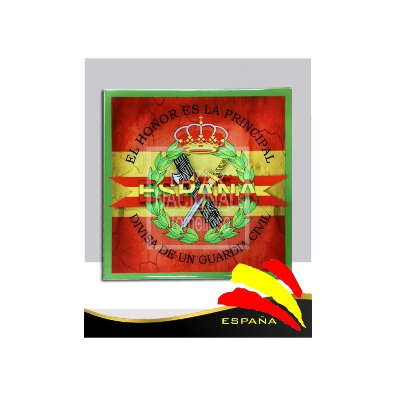 Cerámica G. Civil-Bandera 20x20 cm.