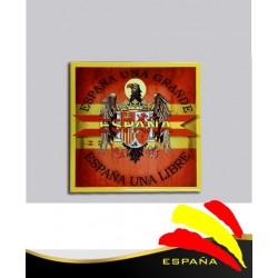 Cerámica Águila-Bandera 15x15 cm.