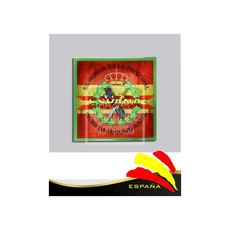 Cerámica G. Civil-Bandera 15x15 cm.