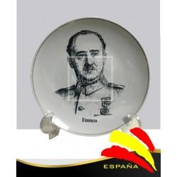 Plato Francisco Franco Blanco y Negro