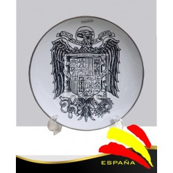 Plato Águila de San Juan Blanco y Negro