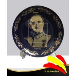 Plato Francisco Franco Cobalto y Oro