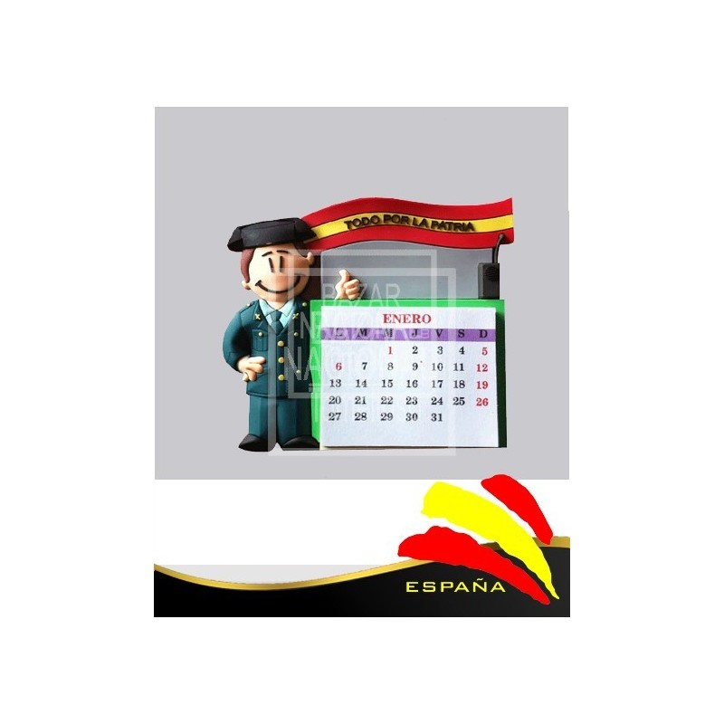 Imán Calendario Guardia Civil