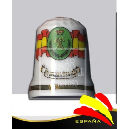 Dedal Porcelana Guardia Civil