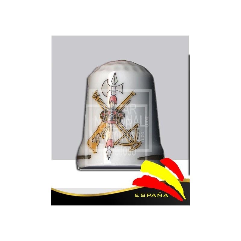 Dedal Porcelana Legión Española