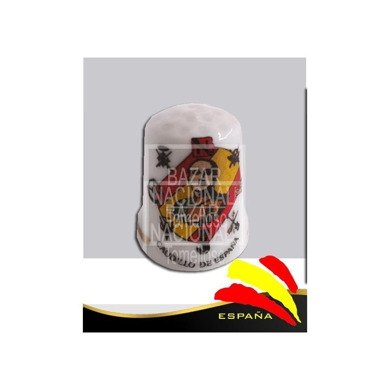 Dedal Porcelana Francisco Franco Bahamonde