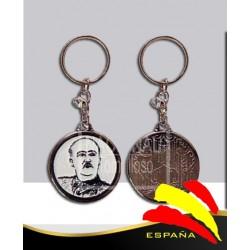 Llavero Francisco Franco Fotografía Granulada