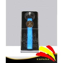 Llavero Piel Cinta Piel Azul Legión Española
