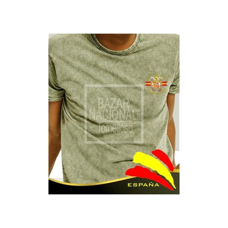 Camiseta degradada verde Águila bolsillo