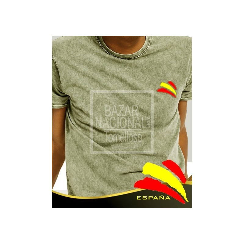Camiseta degradada verde Bandera España