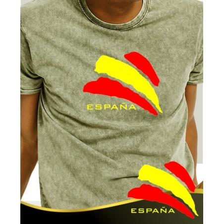 Camiseta degradada verde Bandera España Central