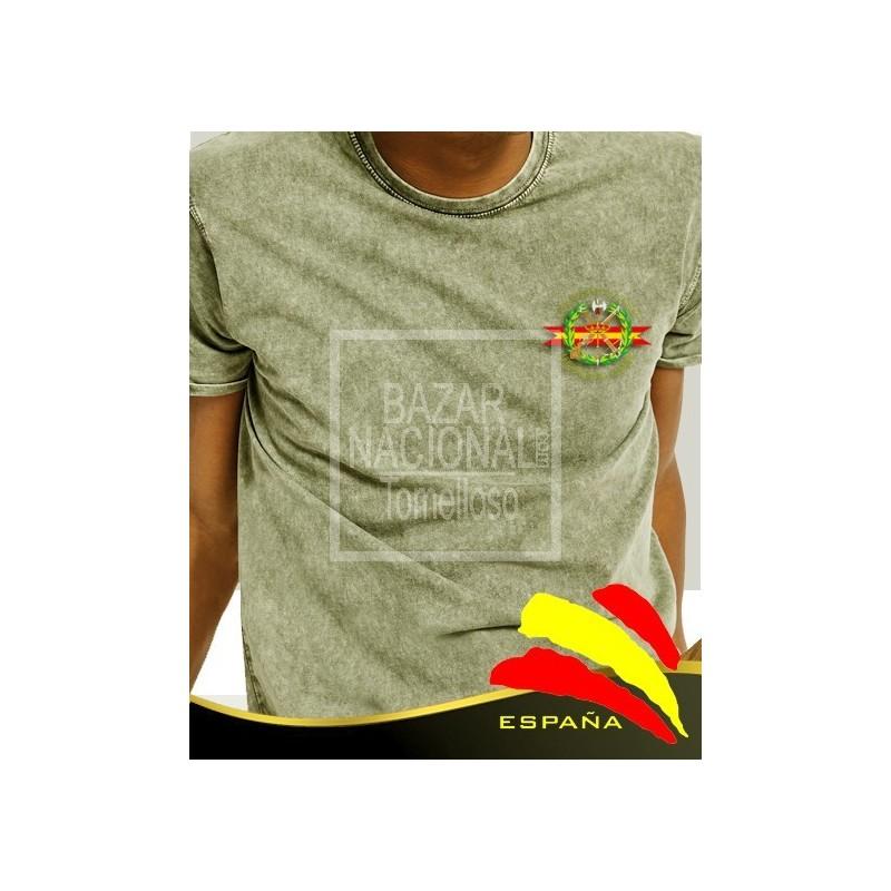 Camiseta degradada verde Legión bolsillo
