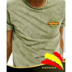Camiseta degradada verde G. Civil bolsillo
