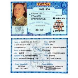 DNI Francisco Franco
