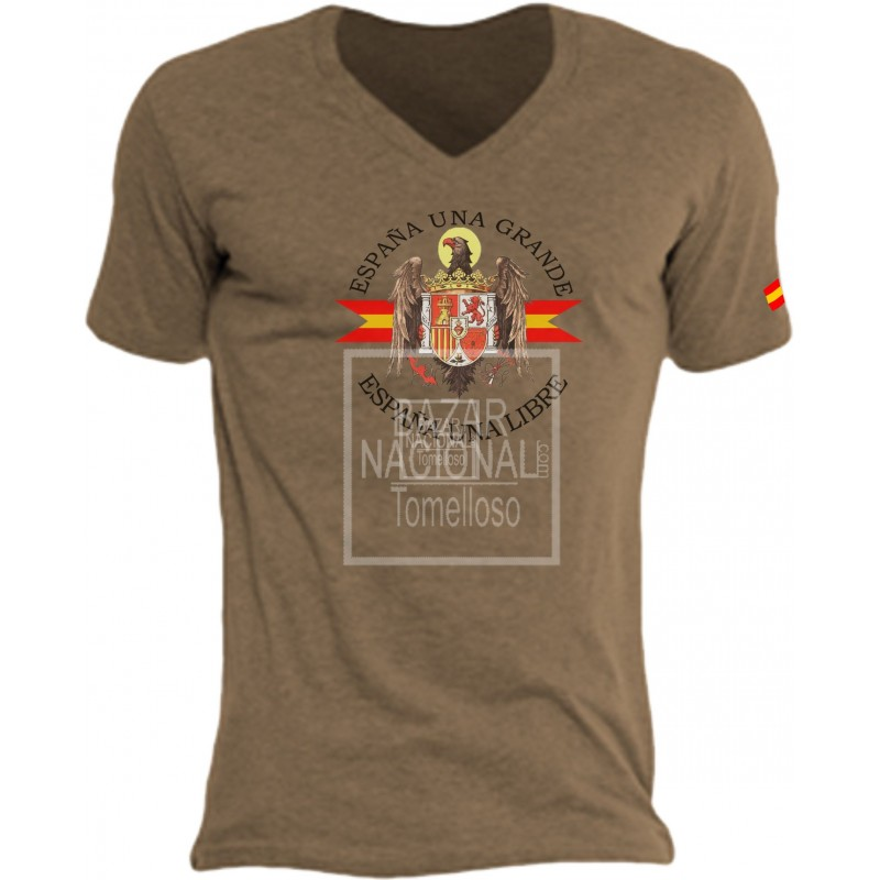 Camiseta Color Tabaco Águila Central
