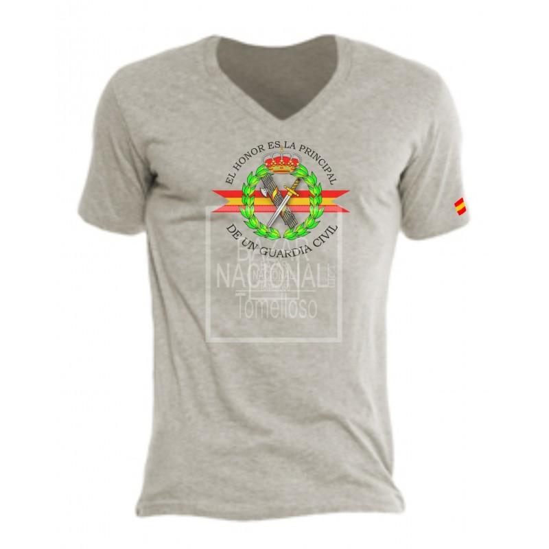 Camiseta Gris emblema Guardia Civil Central