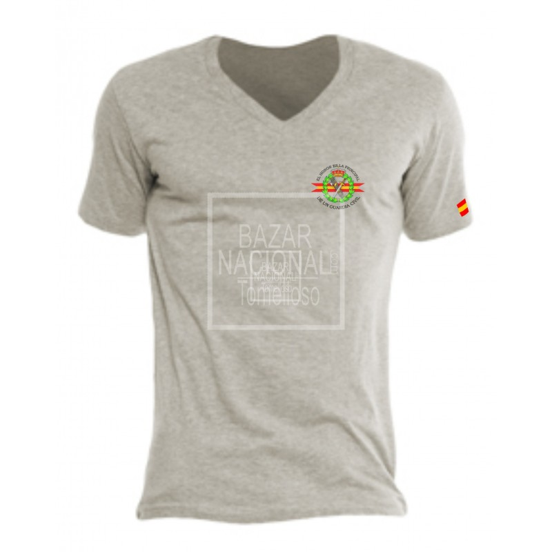 Camiseta Gris emblema Guardia Civil en Bolsillo