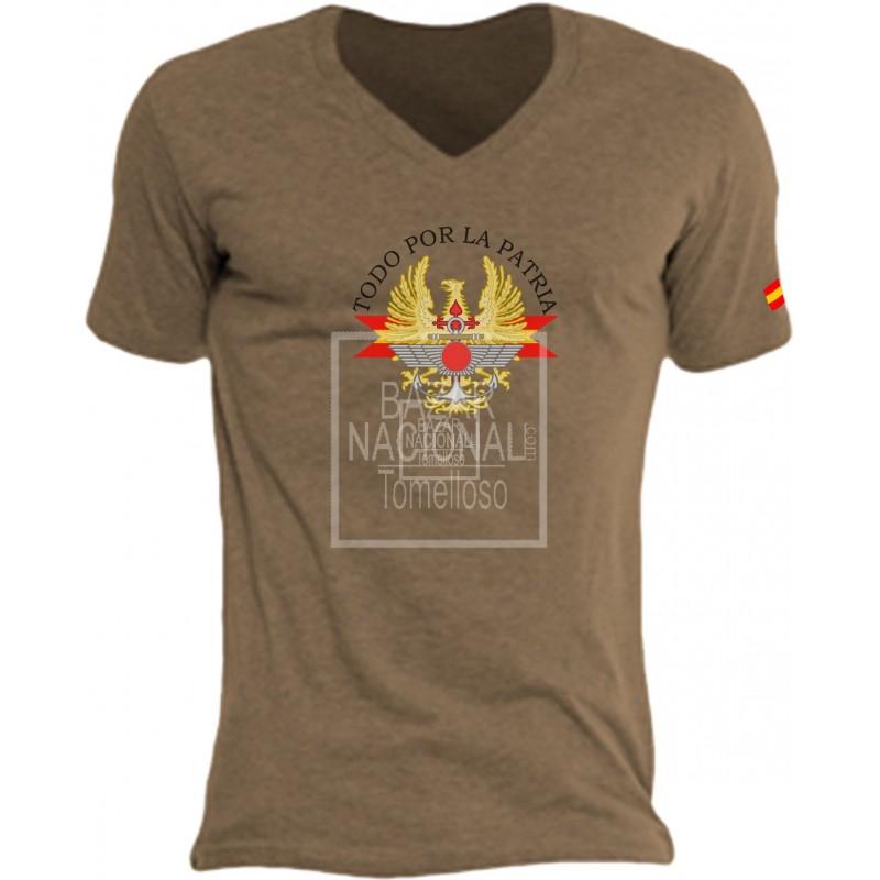 Camiseta Color Tabaco Ejércitos de España en el Centro