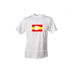 Camiseta Blanca Bandera Mapa Central