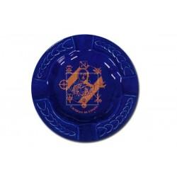 Cenicero Azul Cobalto Labrado Francisco Franco