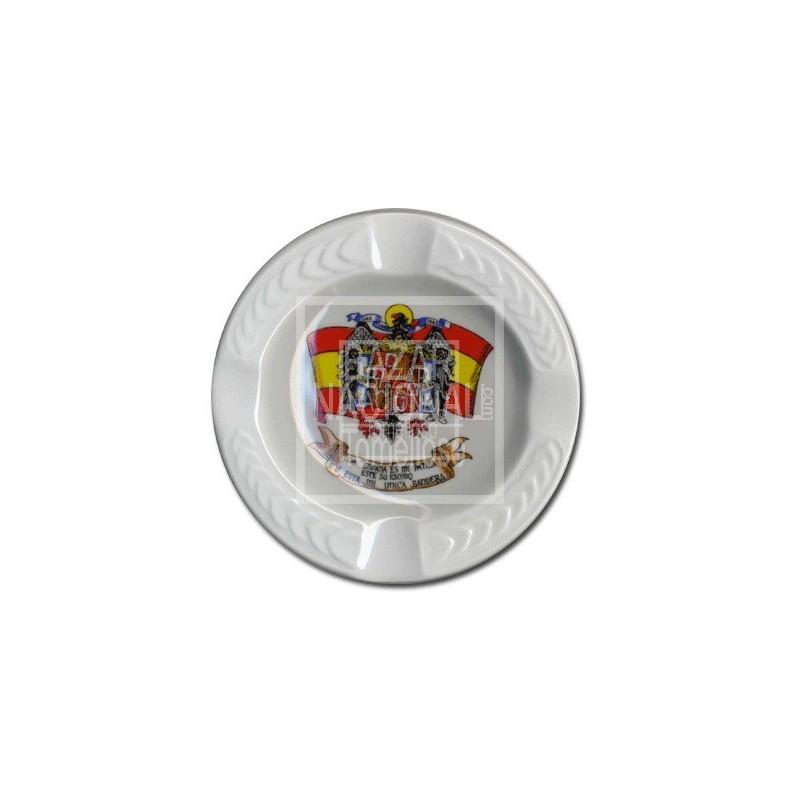 Cenicero Blanco Labrado Águila de San Juan