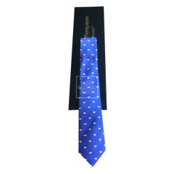 Corbata Azul Royal Banderas Bordadas